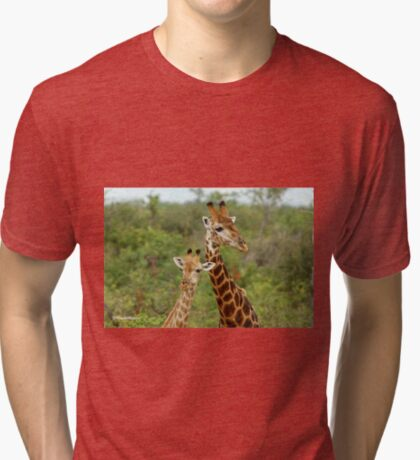 THE HAPPY COUPLE - GIRAFFE – Giraffa Camelopardalis Tri-blend T-Shirt