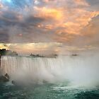 Niagara Falls Sunset by Valentina Gatewood