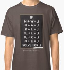 Westerosi Math 101 Classic T-Shirt