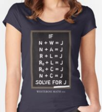 Westerosi Math 101 Women's Fitted Scoop T-Shirt