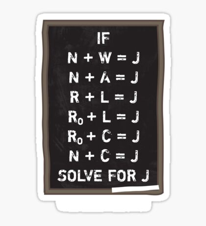 Westerosi Math 101 Sticker