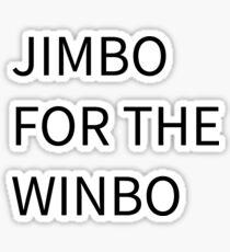 Jimbo for the Winbo Sticker