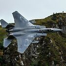 USAF F15C turning through the Mach Loop in Wales by PhilEAF92