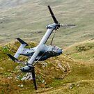 CV22 Osprey flying through the Mach Loop in Wales by PhilEAF92