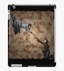 Hello, Doctor. iPad Case/Skin