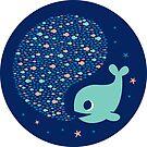 Whale Talking to Fish Speech Bubble by KristyKate