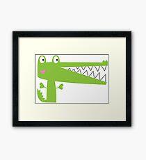 Cutie Crocodile Framed Print