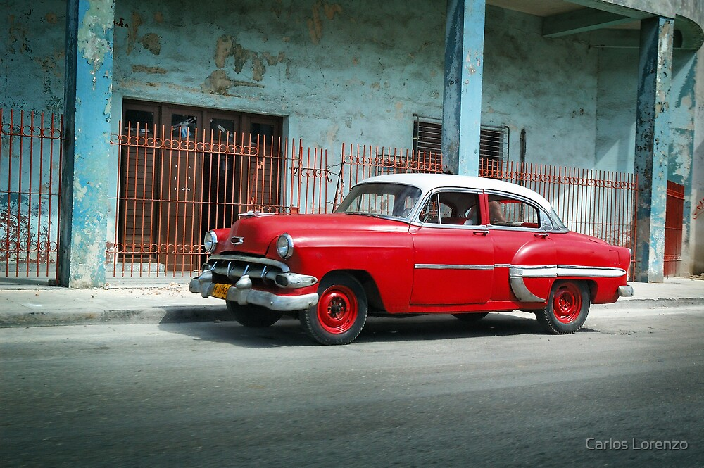 1953 Chevrolet Bel-Air Sedan 4D Red, Cuba by Carlos Lorenzo