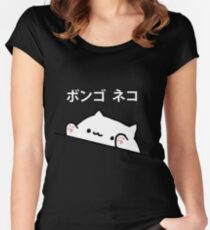 Bongo Cat Japanese Women's Fitted Scoop T-Shirt