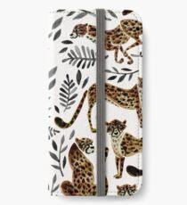 Gepard-Sammlung - Mokka- u. Schwarz-Palette iPhone Flip-Case/Hülle/Skin