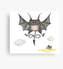 Watercolor Halloween Little Devil #11 Canvas Print