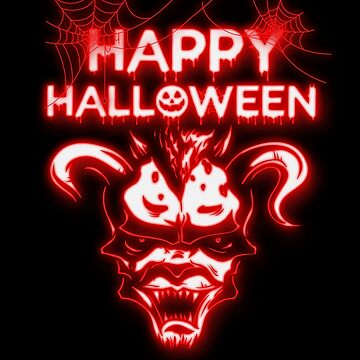 Happy Halloween Cool Scary Monster by hip-hop-art