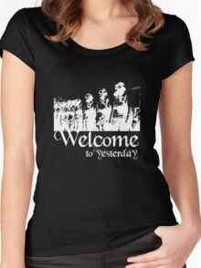 Welcome to yesterday... Women's Fitted Scoop T-Shirt