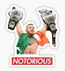 conor mcgregor the notorious  Sticker