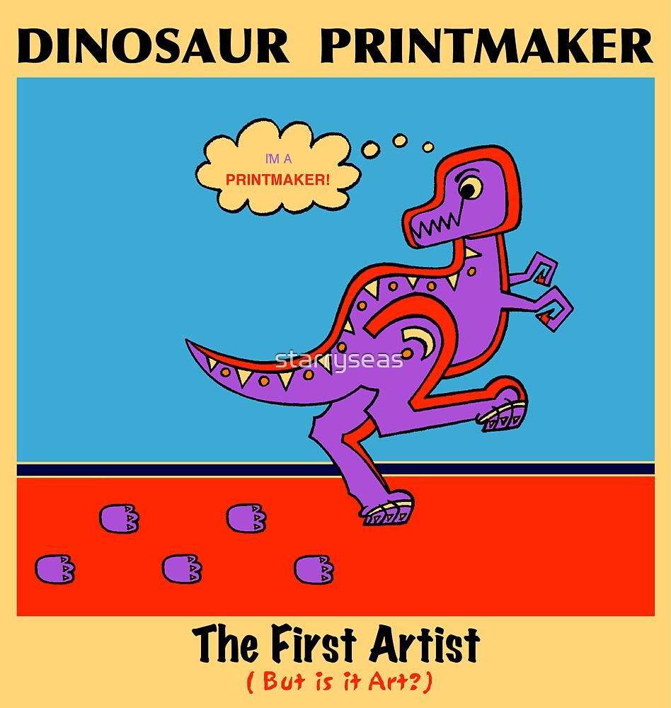 Dinosaur Printmaker by starryseas