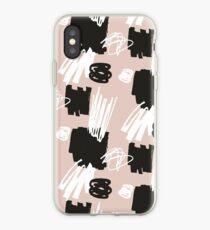 Blush Brush Stroke Pattern iPhone-Hülle & Cover
