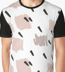 Blush Brush Stroke Pattern Graphic T-Shirt
