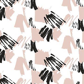 Blush Brush Stroke Pattern by stylebytara