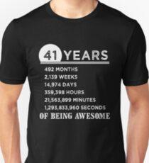 41 Years Old Birthday T Shirts