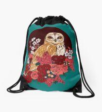 Owl Floral Eclipse Drawstring Bag