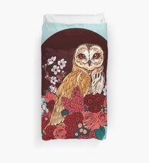 Owl Floral Eclipse Duvet Cover