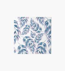watercolor branch blue Art Board