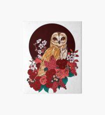 Owl Floral Eclipse Art Board