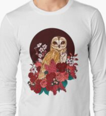 Owl Floral Eclipse Long Sleeve T-Shirt