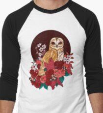 Owl Floral Eclipse Men's Baseball ¾ T-Shirt