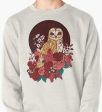 Owl Floral Eclipse Pullover