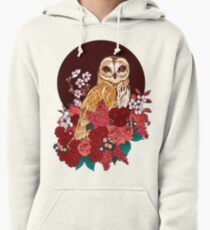 Owl Floral Eclipse Pullover Hoodie