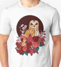 Owl Floral Eclipse Unisex T-Shirt