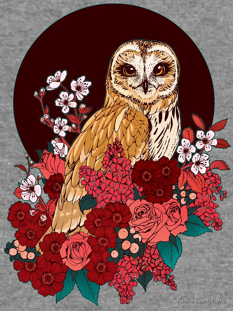 Owl Floral Eclipse by plaguedog