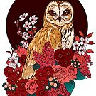 Owl Floral Eclipse by Kellie Lamphere