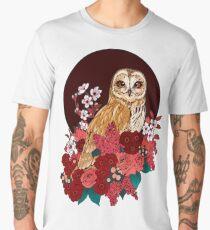 Owl Floral Eclipse Men's Premium T-Shirt
