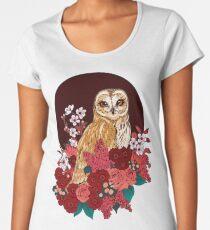 Owl Floral Eclipse Women's Premium T-Shirt