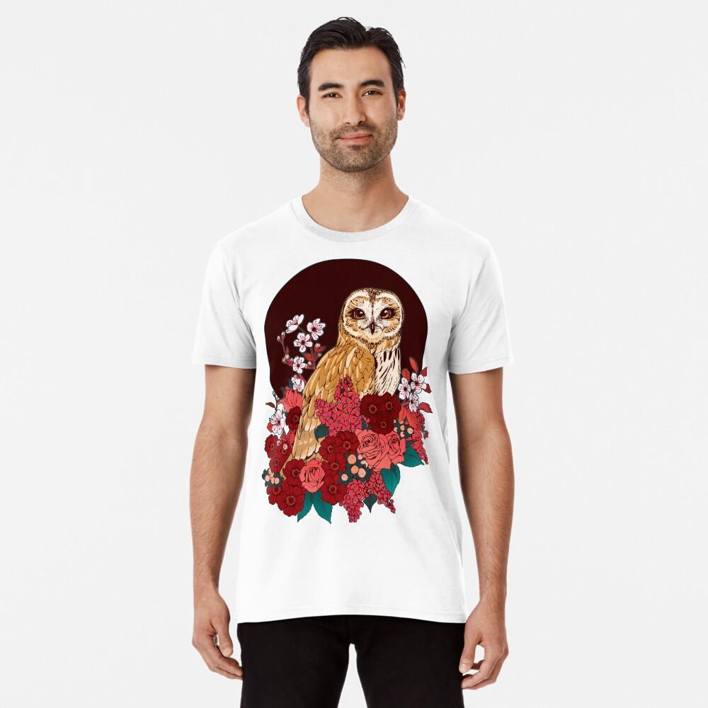 Owl Floral Eclipse Premium T-Shirt