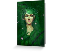 Green Nature Fairy Greeting Card