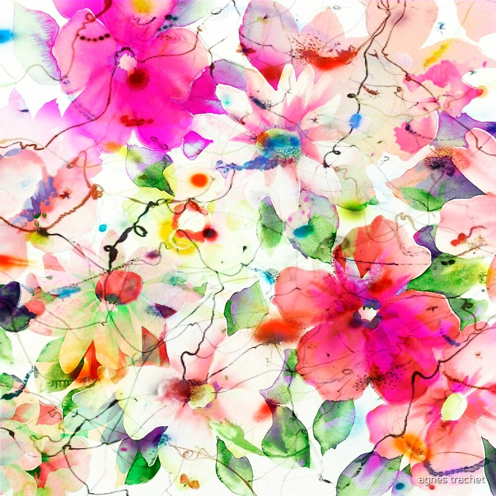 joyful flowers by agnès trachet