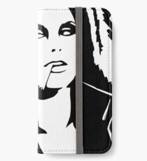 Black Ink Portrait #2 (Darkwave) iPhone Wallet/Case/Skin