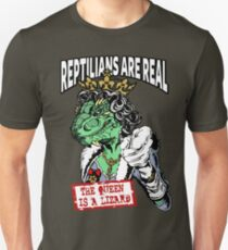 Reptilians Are Real - The Queen Is A Lizard T-Shirt