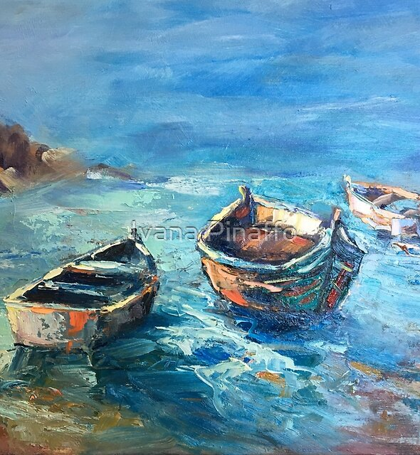 The boats and the sea by Ivana Pinaffo