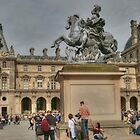 The Louvre & Spring Tourists by Michael Matthews
