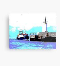 Boat at Girvan  Metal Print