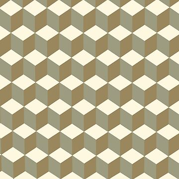 Diamond Repeating Pattern In Meerkat Brown and Grey by taiche