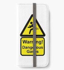 Vinilo o funda para iPhone Señal de advertencia divertida