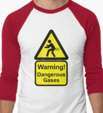 Funny Warning Sign Men's Baseball ¾ T-Shirt