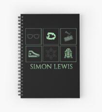 Minimalistic • simon Lewis •  Spiral Notebook