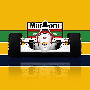 Ayrton Senna - McLaren MP4/8 Front view - Formula 1 by JageOwen