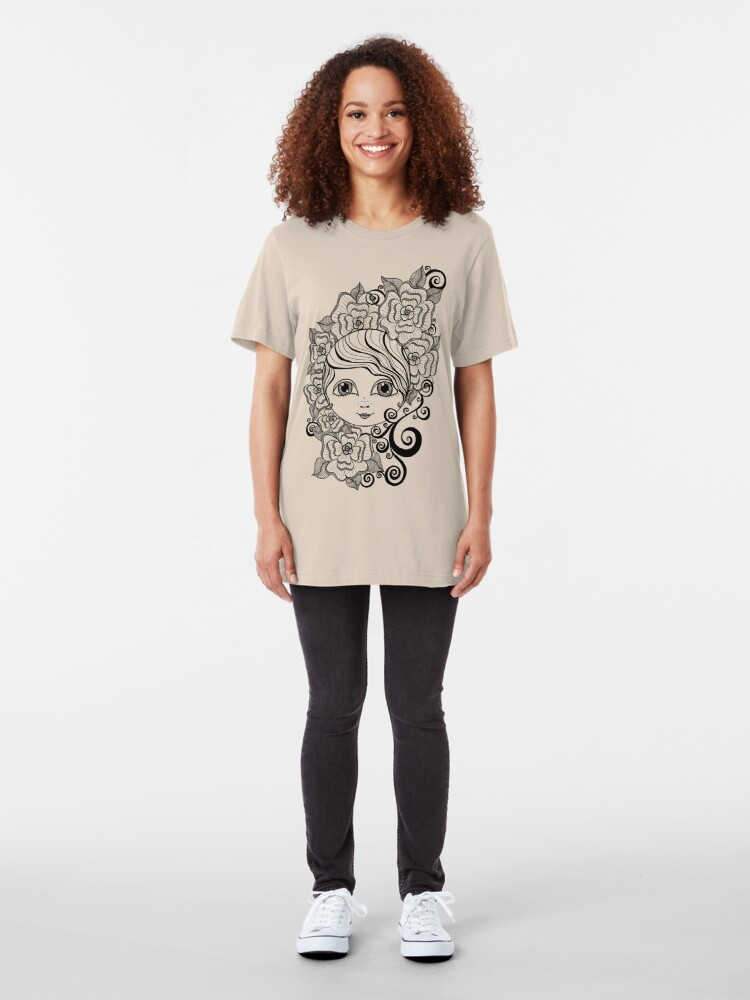 Alternate view of Ruby in Bloom Slim Fit T-Shirt